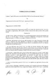 VERBALE DI ACCORDO - Fisascat