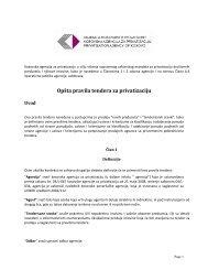 Opšta pravila tendera za privatizaciju