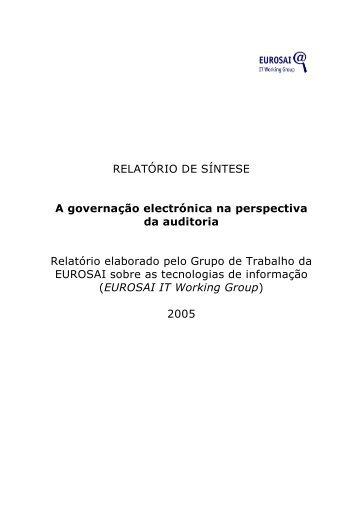 RELATÓRIO DE SÍNTESE A governação electrónica na perspectiva ...