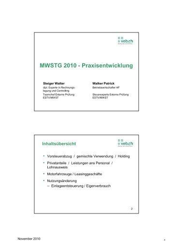 04 Slides_W.Steiger und P.Walker_04.11.10 ... - vebmedia
