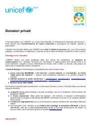 Bilancio Sociale 2011 dell'UNICEF Italia - Cap. 4