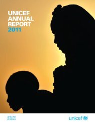 1 UNICEF Annual Report 2011.