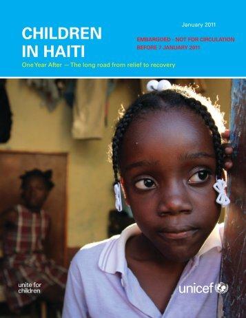 Children in haiti - Unicef