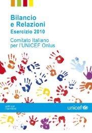 Scarica il Bilancio di esercizio 2010 dell'UNICEF Italia