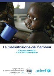 La malnutrizione dei bambini - Unicef