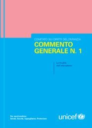 Commento generale n. 1 - Unicef