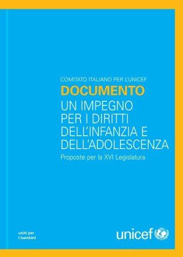 DOCUMENTO UN IMPEGNO PER I DIRITTI DELL ... - Unicef