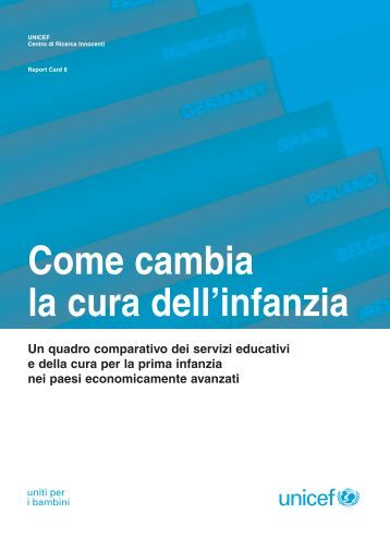Come cambia la cura dell'infanzia - Innocenti Research Centre