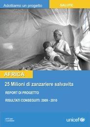 AFRICA 25 milioni di zanzariere salvavita - Unicef