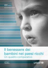 Il benessere dei bambini nei paesi ricchi - Innocenti Research Centre