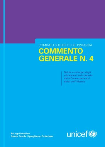 Commento generale n. 4 - Unicef