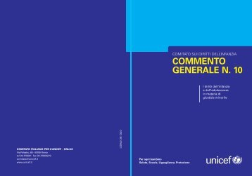 COMMENTO GENERALE N. 10 - Unicef