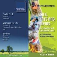 oilS, FaTS aNd liPidS - Euro Fed Lipid