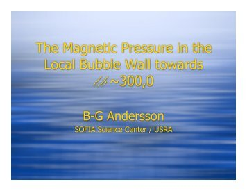 The Magnetic Pressure in the Local Bubble Wall towards l,b ~300,0