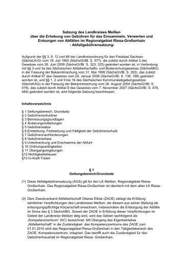 Abfallgebührensatzung - Landkreis Meißen