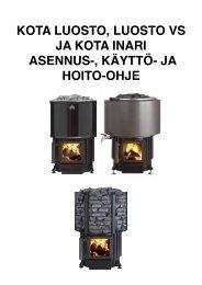 kota luosto, luosto vs ja kota inari asennus-, käyttö - Narvi Oy