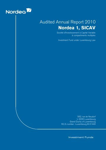 Audited Annual Report 2010 Nordea 1, SICAV - Nordea Bank Lietuva