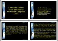 Conceptos básicos sobre Sistemas de Información Geográfica (SIG)