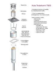 jt-teräshormiston asennus-, käyttö- ja hoito-ohje - Narvi Oy