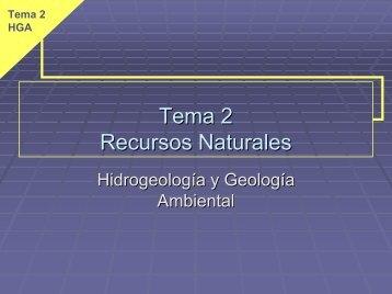 recursos - Grupo de Geomorfología, Hidrogeología y Medio Ambiente