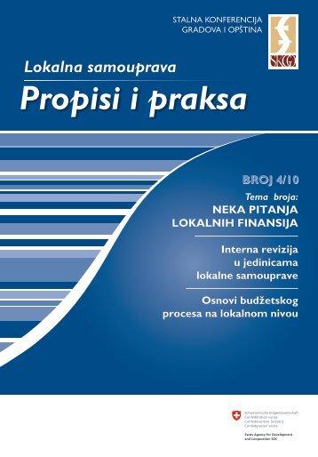 Propisi i praksa 1-2011 - Stalna konferencija gradova i opština