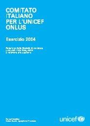 Scarica il BIlancio Amministrativo 2004 dell'UNICEF Italia
