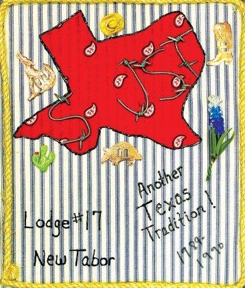 Lodge 17, New Tabor - 1989-90 Scrapbook