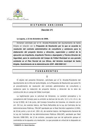 Dictamen 489/2008, solicitado por el Sr. Alcalde-Presidente del ...