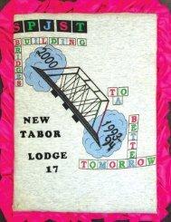 Lodge 17, New Tabor - 1993-94 Scrapbook