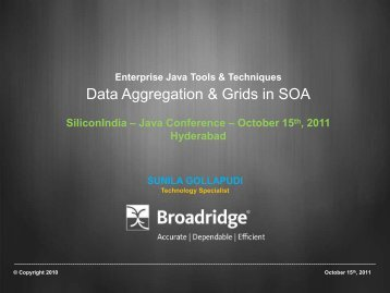 Data Aggregation & Grids in SOA