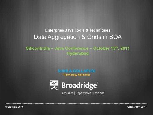 Data Aggregation & Grids in SOA