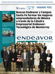 Buscan Endeavor y Campus Santa Fe formar los mejores ...
