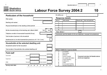 Labour Force Survey 2004:2 10 - Population Studies Center