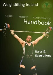 Rules and Regulations - Weightlifting Ireland