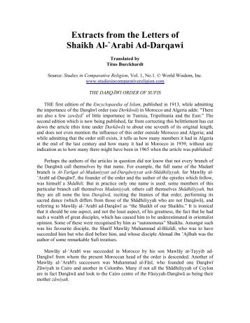 DARQAWI LETTERS DOWNLOAD