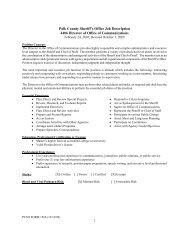 1 Polk County Sheriff's Office Job Description 4406 Director of Office ...