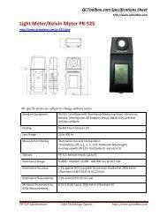 Light Meter/Kelvin Meter PR-525 - QCToolbox.com