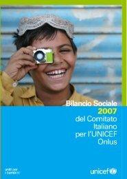 Bilancio sociale 2007 Comitato Italiano UNICEF