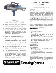 PNEUMATIC C-RING TOOL SAFETY INSTRUCTIONS
