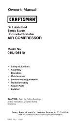 Owner's Manual AIR COMPRESSOR