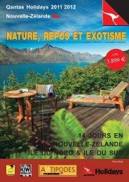 nature, repos et exotisme nature, repos et exotisme - Antipodes