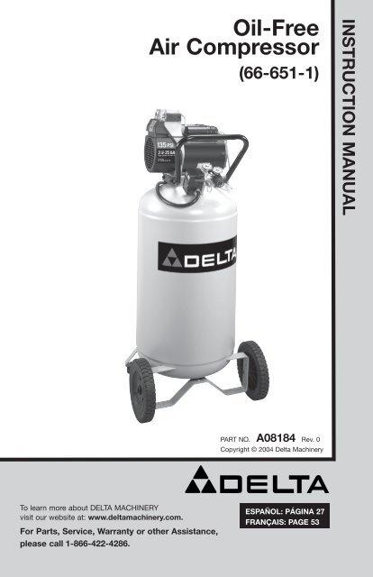 Oil Free Air Compressor 66 651 1