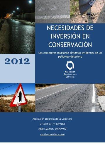 necesidades de inversión en conservación - Asociación Española ...