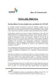 nota de premsa conaif - El gremi
