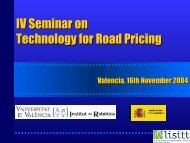 IV Seminar on Technology for Road Pricing