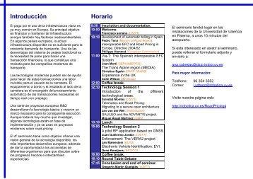 Introducción Horario - Instituto de Robotica
