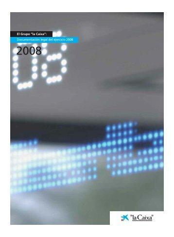 Ejercicio 2008 - la Caixa