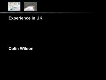 Experience in UK Colin Wilson