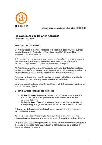 Premio Europeo de las Artes Aplicadas - Oficio y Arte