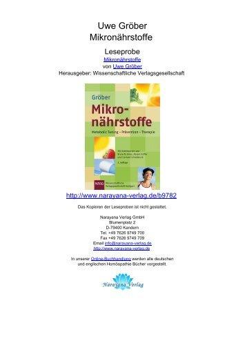 Uwe Gröber Mikronährstoffe